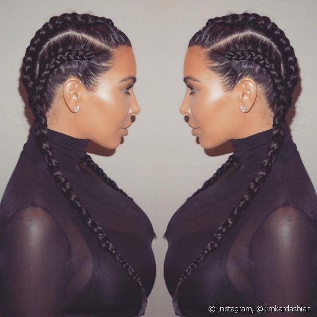 A socialite Kim Kardashian foi a grande embaixadora da trança boxeadora. Bastou a musa postar nas suas redes sociais o penteado, que virou uma febre mundial!
