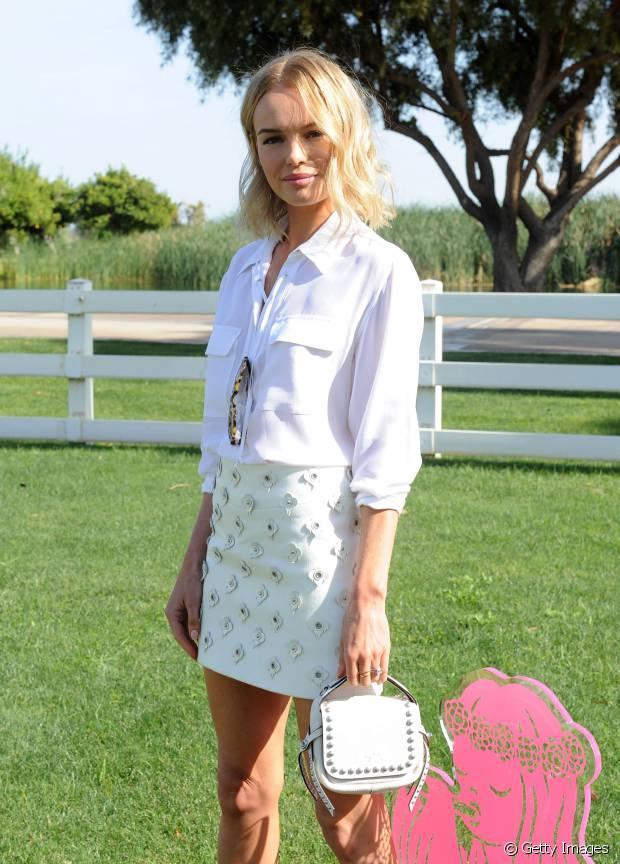 Kate Bosworth adora o visual natural garantido pelas ondas no cabelo
