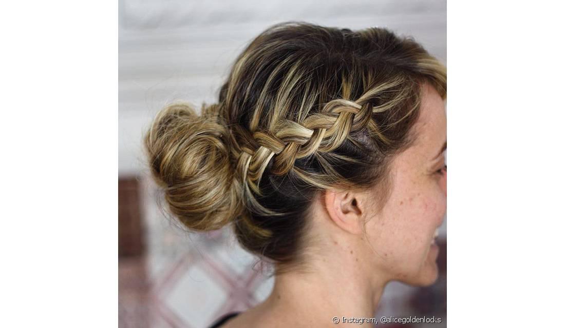 penteados presos para festas