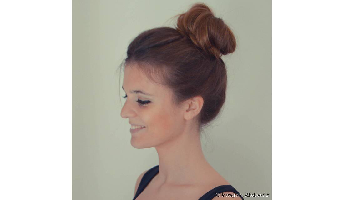 Penteados com coque - Opção para cabelos longos