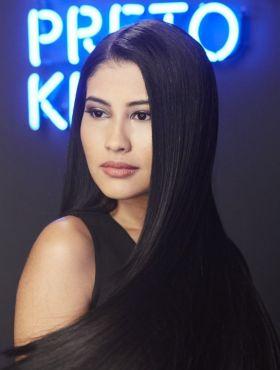 Como pintar o cabelo com o Preto Kiu, de Brilho&Ton, cor da Thaynara OG