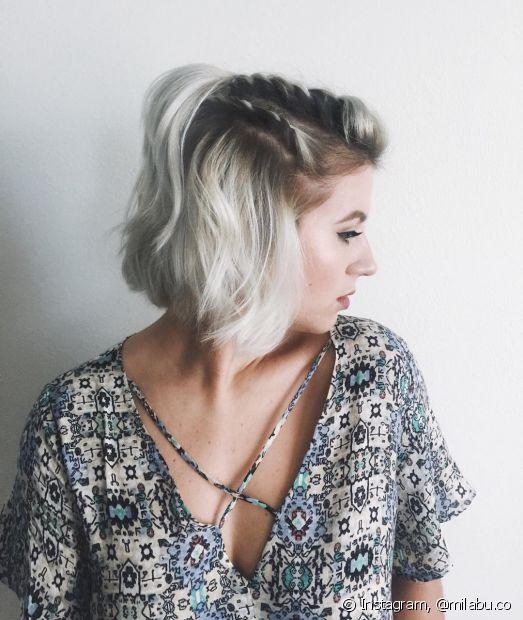 Os penteados semipresos também foram muito usados em 2017, como a trança unicórnio