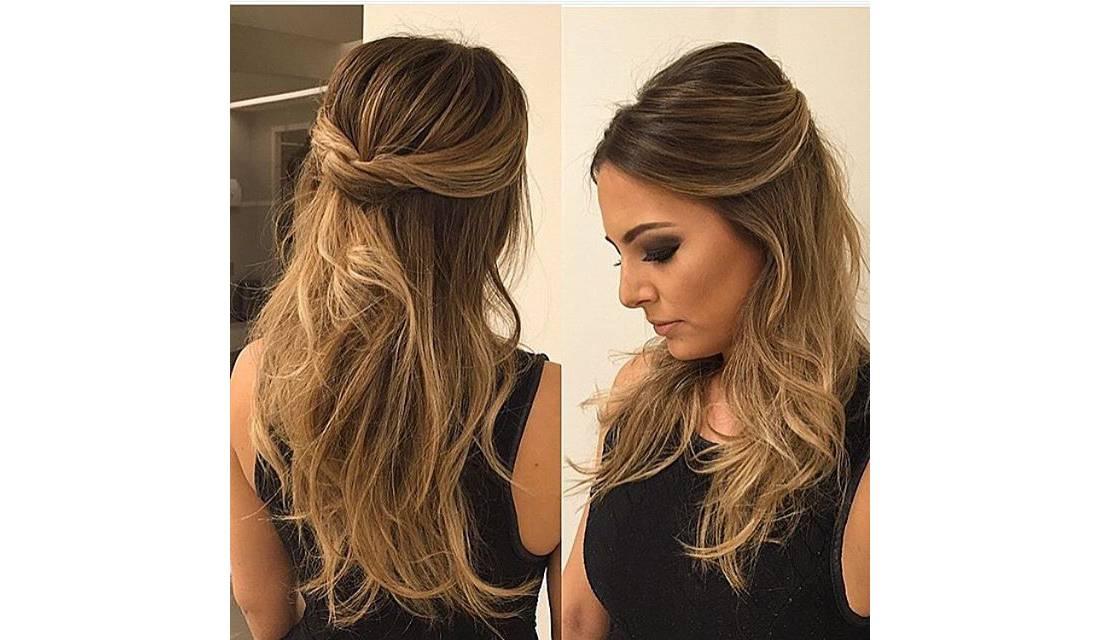 penteados simples - Opção amarrada