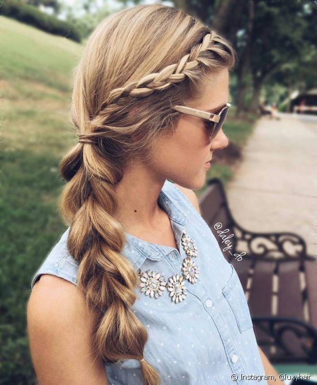 Uma das maiores vantagens em ter cabelo comprido é poder usar e abusar  deles para fazer 9261ba8513