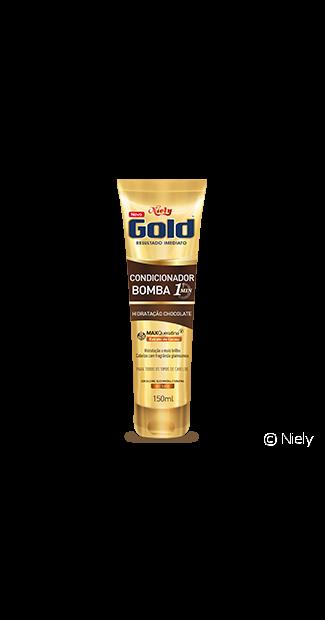 A linha Niely Gold Chocolate também tem um Condicionador Bomba para chamar de seu!