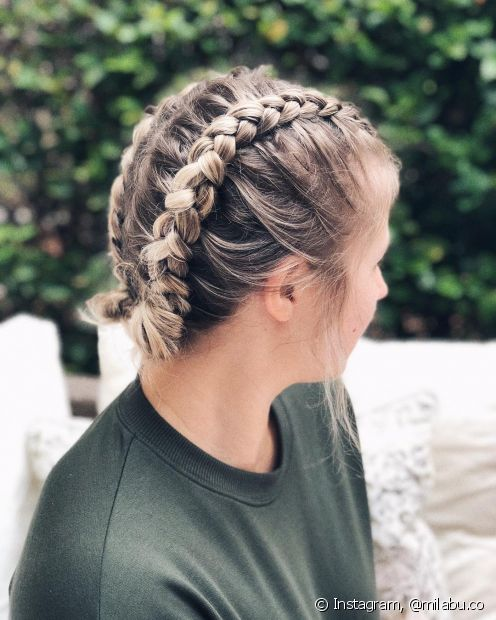 Pode não parecer, mas dá para fazer vários modelos de tranças no cabelo curto, incluindo a versão boxeadora