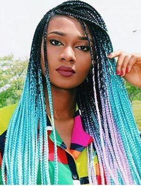 Box braids coloridas para o Carnaval: 10 fotos para você se inspirar e deixar suas tranças estilosas para os dias de folia