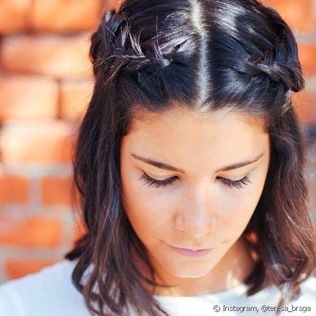 Os penteados semipresos são ótimas opções para quem tem os cabelos mais curtos