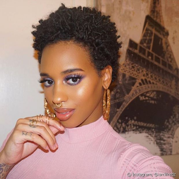 Super Cabelo curto afro: veja 10 fotos com diferentes estilos para te  JC67