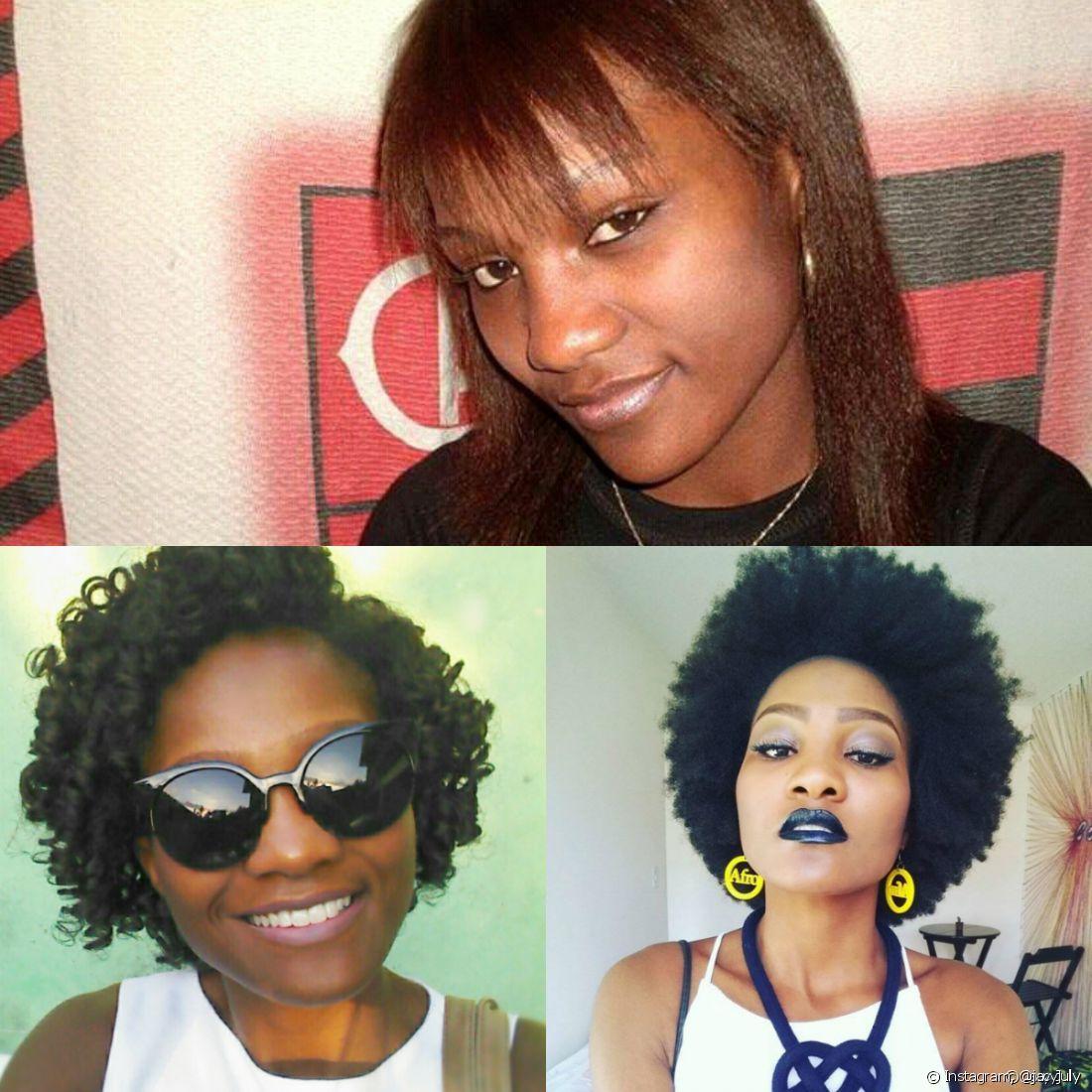 'A partir da transição capilar, resolvi criar um canal de vídeos (youtube.com/jacyjuly), onde ensino penteados afro, como tranças, turbantes e ensino as pessoas crespas a cuidarem de seus cabelos e a se sentirem bem consigo mesmas', contou Jacy July