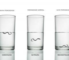 O teste com o copo vai mostrar se a sua porosidade capilar está baixa, média/normal ou alta