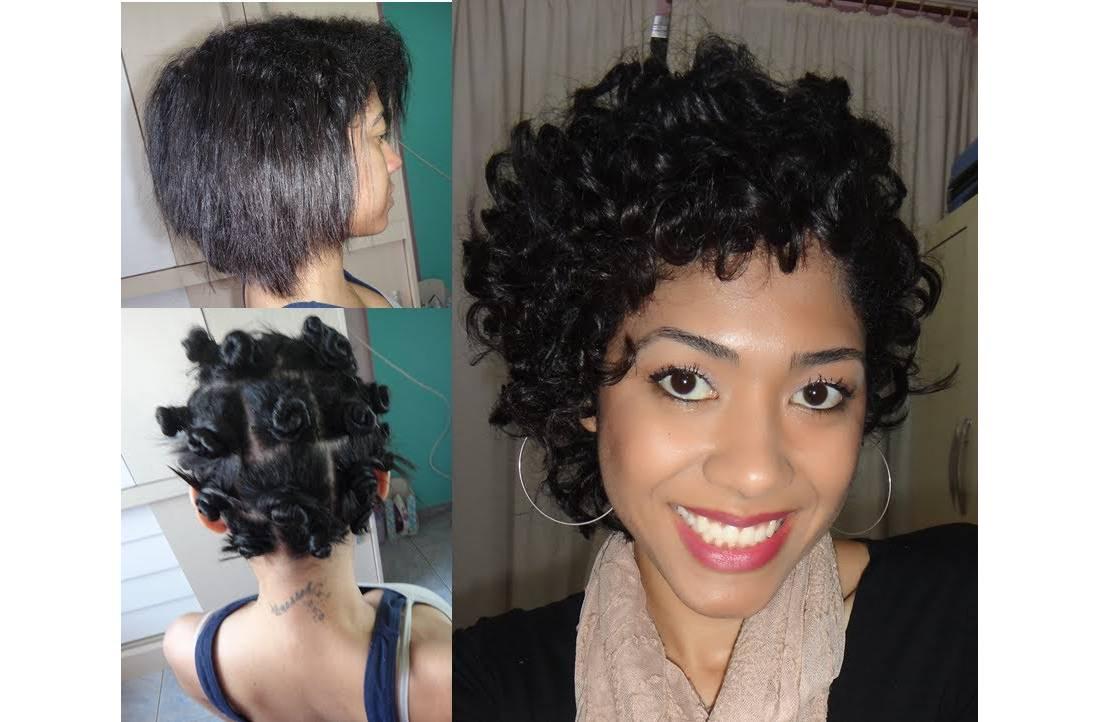A t cnica manual feita com pequenos coques criados em todo o cabelo e garante um