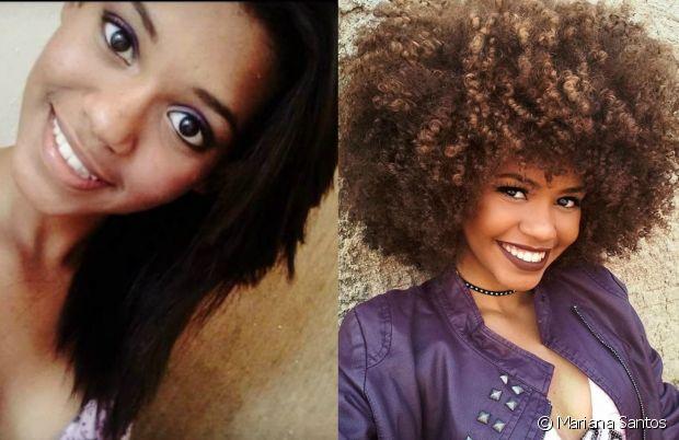 'Eu fiz progressiva umas quatro vezes até que meu cabelo ficou totalmente quebrado, depois disso, resolvi largar da química. Isso aconteceu quando eu tinha 14 anos', contou Mariana Santos