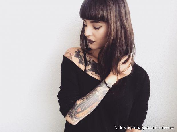 Antes de fazer uma tatuagem, você precisa estar segura da imagem ou da escrita que você escolheu