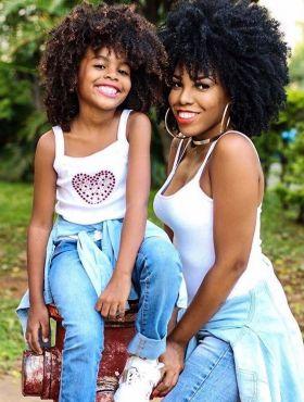 Dia das Mães: Luany Cristina, do blog Diva do Black, conta como empodera sua filha crespa: 'A representatividade é importante'