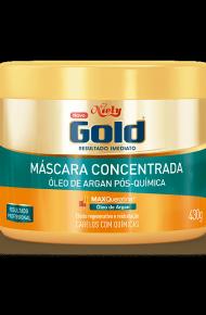 Máscara Concentrada Niely Gold Óleo de Argan Pós-Química 430g
