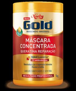 Máscara Concentrada Niely Gold Queratina Reparação 1kg