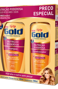 Kit Especial Niely Gold Nutrição Poderosa Shampoo 300ml + Condicionador 200ml