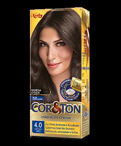 Castanho Médio 4.0 Cor&Ton Coloração Creme