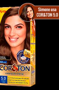 Castanho Claro 5.0 Cor&Ton Coloração Creme