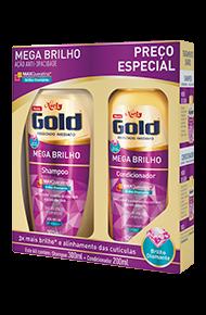 Kit Especial Niely Gold Mega Brilho Shampoo 300ml + Condicionador 200ml