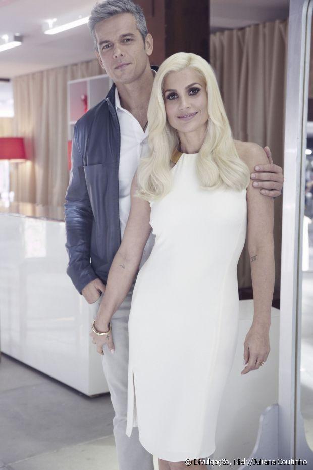 O marido Otaviano Costa tabém participou do comercial Cor&Ton