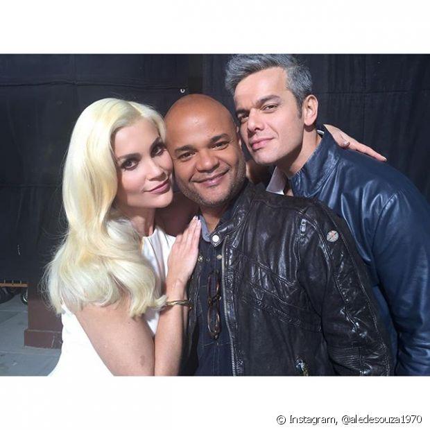 Alê de Souza, Expert de Beleza Niely, foi o reponsável pelos cabelos de Flávia Alessandra na campanha de Cor&Ton. A atriz gravou ao lado do marido, Otaviano Costa