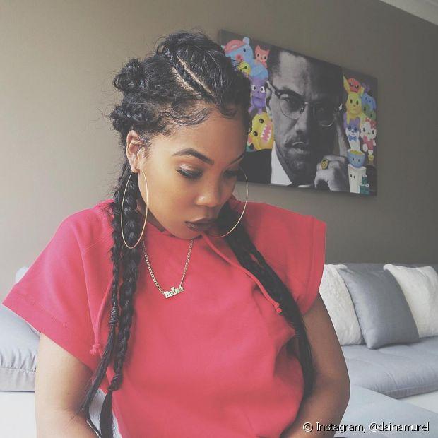 As divas negras podem usar a trança boxeadora para fazer um penteado muito estiloso