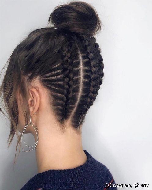 Penteados presis em trança invertida são a cara daquele rolê com os amigos (foto: Instagram, @hairfy)