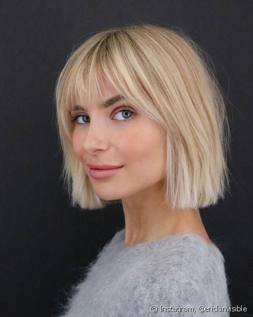 O soft blunt é a versão mais leve do blunt cunt e um dos cortes de cabelo que está fazendo sucesso entre nos salões de beleza. (Foto: Instagram @erickinvisible)