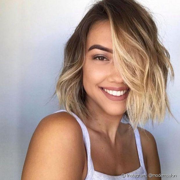 O ombré hair é mais uma técnica de iluminação que pode ser utilizada nos cabelos curtos. (Foto: Instagram @modernsalon)