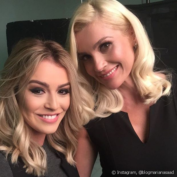 Nossas divas Mariana Saad e Flávia Alessandra, juntas, gravando vídeo para a próxima campanha