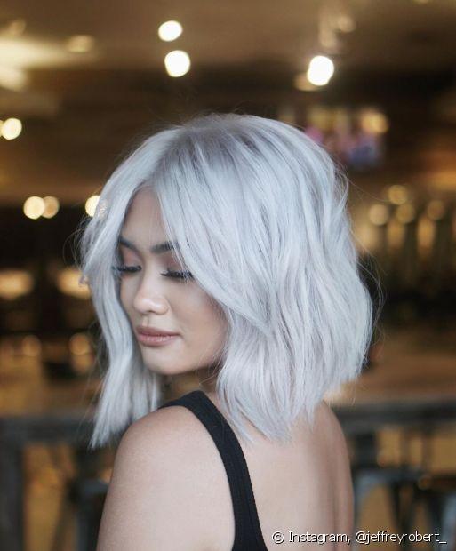 O chanel é o corte que nunca sai de moda: o sucesso é garantido com os cabelos platinados (Foto: Instagram, @jeffreyrobert_)