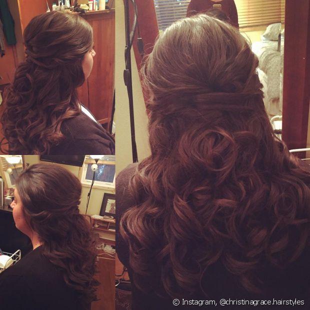 Os torcidinhos com topete são elegantes - @christinagrace.hairstyles