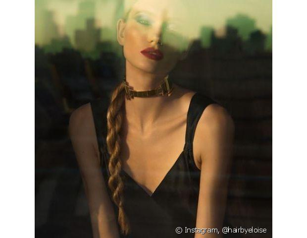 O penteado favorece quem tem os fios longos - @hairbyeloise
