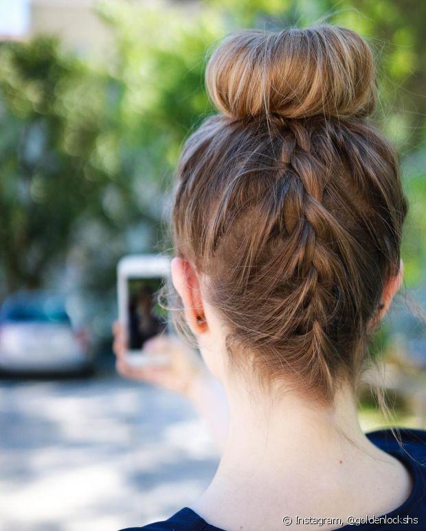 Esse penteado deixa seu look ainda mais moderno e descolado