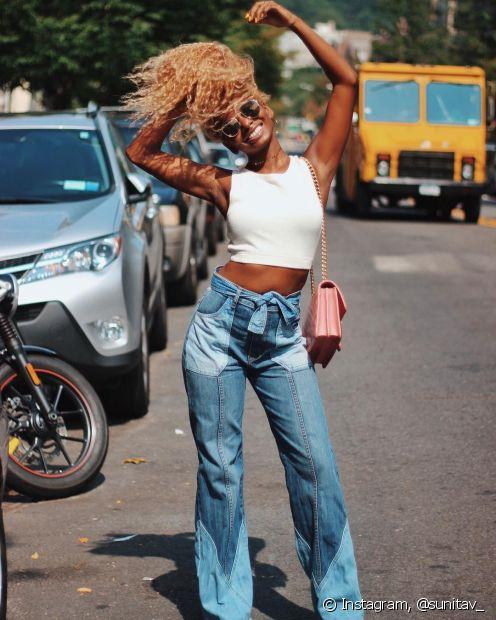 O uso do loiro neutro é grantia de muito estilo e personalidade (Foto: Instagram, @sunitav_)