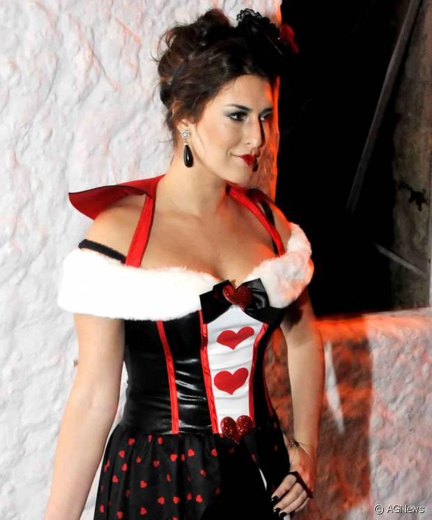 A atriz Fernanda Paes Leme vestida de Dama de Copas