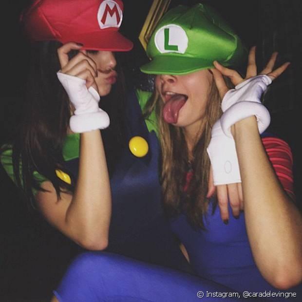Em 2014, Kendall Jenner e Cara Delevingne formaram a dupla Mario Bross e Luigi