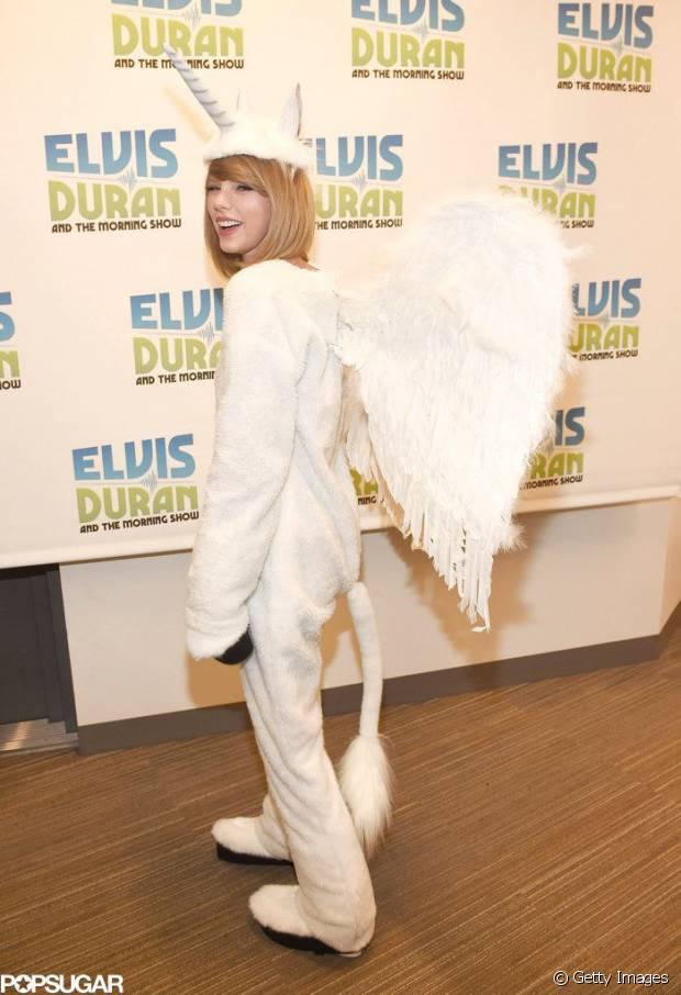 Taylor Swift já se fantasiou de unicórnio