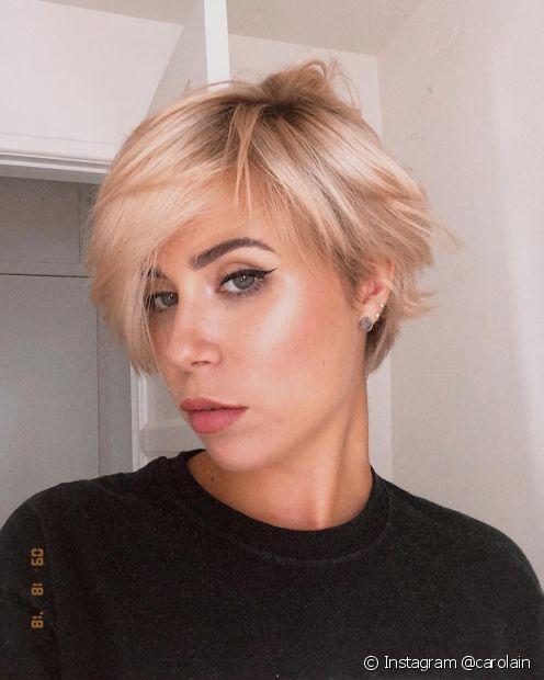 O corte de cabelo para rosto fino deve ter volume nas laterais e outros elementos que equilibrem os traços; confira as dicas! (Foto: Instagram @carolain)