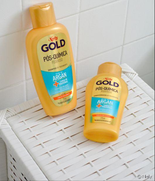 Conheça a linha Niely Gold Pós-Química Poderoso, que restaura e fortalece cabelos quimicamente tratados
