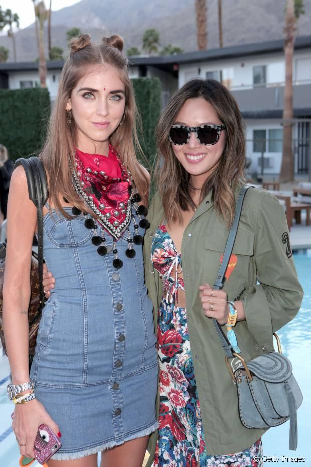 As blogueiras Chiara Ferragni e Aimee Song curtiram o Coachella juntas