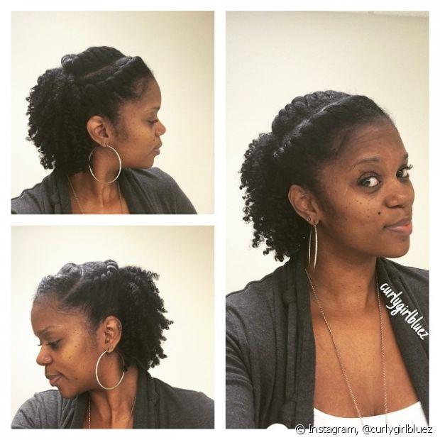 Você também pode criar um penteado com diversas tranças de raiz e aplicar um pouco do creme