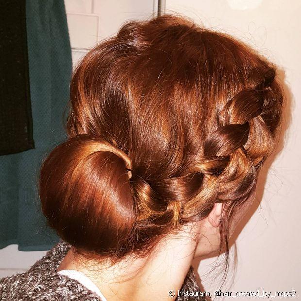 Mais uma inspiração para você pirar em tranças em cabelos ruivos!