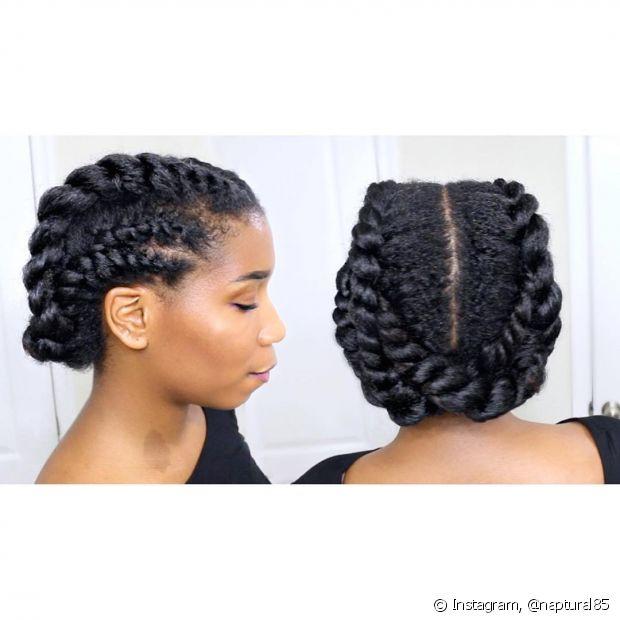 Você pode também cruzar as pontas das tranças laterais e ter um penteado bem preso para não te atrapalhar no dia a dia