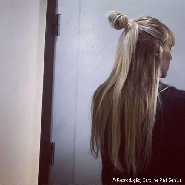 Quanto maior for o cabelo, mais bonito ficará o half-bun