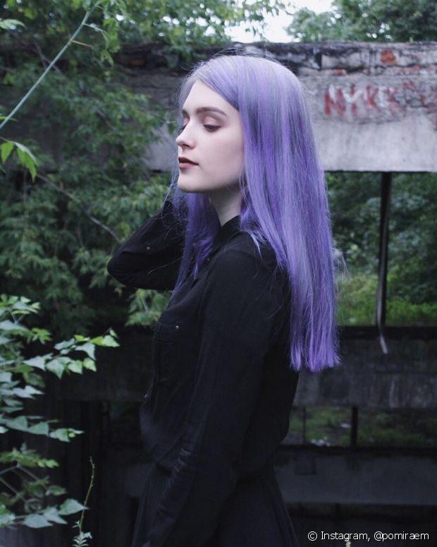 Para as bem branquinhas, o lilás é um transformação mais sutil