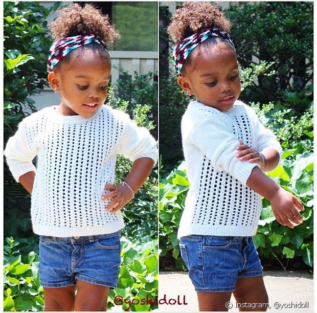 As amarrações que não abafam o couro cabeludo são perfeitas para as crianças mais agitadas