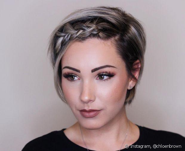 Com criatividade e prática, dá para fazer penteados em cabelos mais curtos